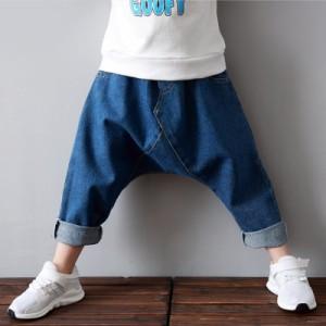 b217d02d5f070 サルエルパンツ 子供服 デニムパンツ 男の子 女の子 ゆるかわい 韓国子供服 キッズ服 長