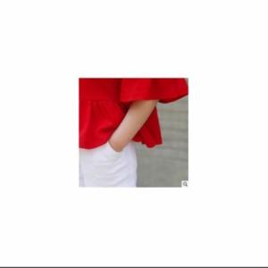 847f739ebaf12 Tシャツ 子供服 フリル 女の子 半袖 トップス キッズ服 赤 レッド 可愛い 90 100 110 120 130 140 150 160  メール便可能