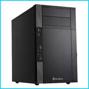 afe55a3e03 Silver Stone Micro-ATXミニタワーケース ブラック SST-PS07B/B