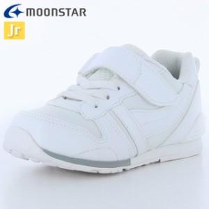 ムーンスター ランニングシューズ キッズ キャロット MS C2121PL ホワイト 12179301 子供靴 大人っぽくスポー
