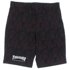 THRASHER / スラッシャー メンズ パンツ 色:エンジ系x黒系(総柄) サイズ:M