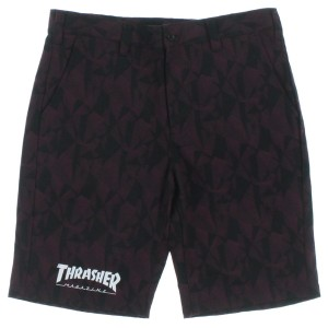 THRASHER / スラッシャー メンズ パンツ 色:エンジ系x黒系(総柄) サイズ:L