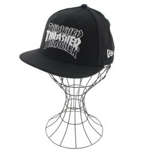 THRASHER / スラッシャー メンズ 帽子 色:黒x白 サイズ:53.9cm