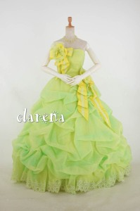 1d56dc5830605 ロングドレス  送料込 無料  二次会 花嫁 演奏会 裾上げ加工済み 黄色