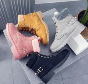 おしゃれ 冬用 ブーツ シューズ スノーブーツ レディース 靴 冬靴 ローカット  滑らない靴 防寒ブーツ 学生 雪 靴 綿靴