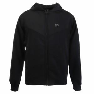 ニューエラ(NEW ERA)ジャージ メンズ ウォームアップジャケット フードロゴ ブラック × ホワイト 12156009(…