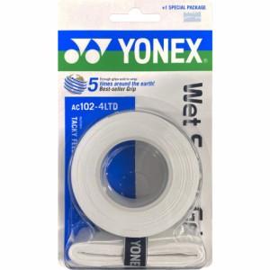 ヨネックス(YONEX)テニスグリップテープ ウエットスーパーグリップ AC102-4LTD-011(Men's、Lady's)