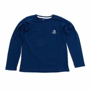 ホールアース(Whole Earth)tシャツ 半袖 KIDS ONE POINT L/S TEE WE27KB38ネイビー (Men's)