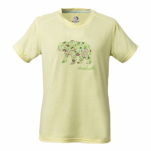 ホールアース(Whole Earth)tシャツ 半袖 WOFLOWERBEAR TEE WE27HA30クリーム  (Lady's)
