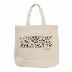 ホールアース(Whole Earth)Print Tote (Gear) WE27GF19ベージュ