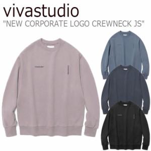 ビバスタジオ トレーナー vivastudio NEW CORPORATE LOGO CREWNECK JS ニュー コーポレート ロゴ クルーネック 全4色 JSVT23 ウェア