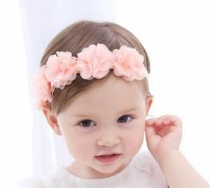 bbffd925e3c18b ベビー ヘアバンド ターバン キッズ カチューシャ ヘアーアクセ お花 赤ちゃん ヘアアクセサリー 子供用 女の子 可愛い おしゃれ ベビー