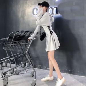 759b4944e348b レディース 韓国 ミニ丈 タイトワンピース 大きいサイズ ドレス セクシー ミニワンピース フレア サイドレースアップ 送料無料 1742