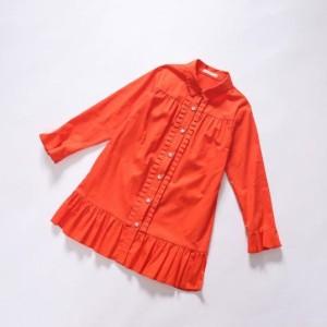 5558e71c0ff34 シンプル キッズワンピース キッズファッション オレンジ カジュアル 着回し ワンピースの通販はWowma!(ワウマ) -  onlythebest 商品ロットナンバー:327164154