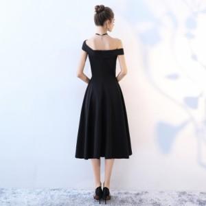 8bf4de4c09279 オフショルダー ドレス パーティードレス 結婚式 ワンピース ドレス 大きいサイズ 舞台ドレス 結婚式 お呼ばれドレス 30代 20代 赤 黒