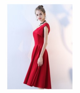 f7c68c963ae7a オフショルダー ドレス パーティードレス 結婚式 ワンピース ドレス 大きいサイズ 舞台ドレス 結婚式 お呼ばれドレス 30代 20代 赤  黒の通販はWowma!