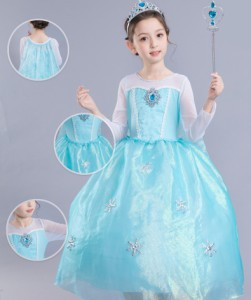 45ccb3f6b1d5b ハロウィン コスプレ 仮装 子供 キッズ 女の子 アナ雪 プリンセス お姫様 ディズニー ドレス スカート キッズ ドレス ピアノ