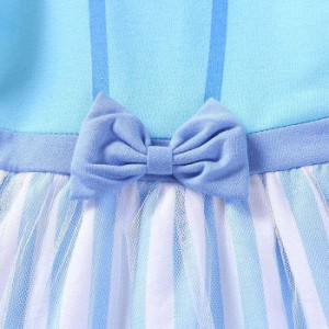 cbdff7f7c7026 子供向けのハロウィンコスチューム風のドレス 膝丈ドレス 水色ドレス 女の子 女児キッズ 子供服 ピアノ発表会ドレス