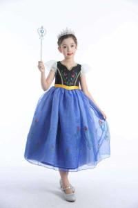 1a39f4b008fba 子供向けのハロウィンコスチューム風のドレス シフォンドレス ノースリーブドレス 膝下ドレス 女の子 女児