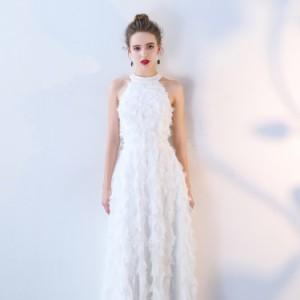 a1a0c49bc9cf4 大人気 ふわふわフェザー ホルターネック ウェディングドレス 白 二次会 花嫁 ウェディングドレス 大きいサイズ激安ウェディングドレス. タイムセール  ...