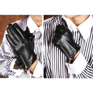 """""""シープスキン 手袋 液晶タッチ 本革手袋 iPhone スマートフォン メンズ手袋 革手袋 羊革 ライダースグロー"""""""