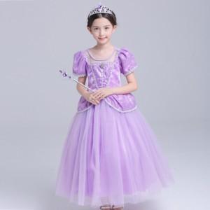 0783097a8d06f キッズドレス プリンセス ロングドレス しっかりふわりん コスチューム なりきり 子供 キッズ お姫様