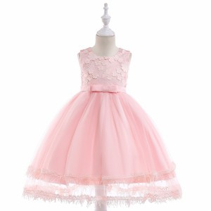 2b919ba688fc2 子供ドレス ノースリーブ膝丈ドレス 花びらチュールワンピース キッズ フォーマル 結婚式 発表会 女の子