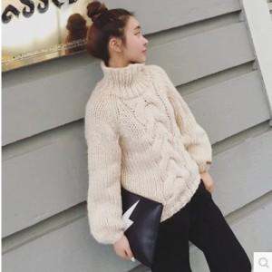 e8aefd43b8da5 ニットセーター レディース ニット セーター ざっくりニット ニットセーター大きいサイズ ハイネック タートルネック 冬 冬服
