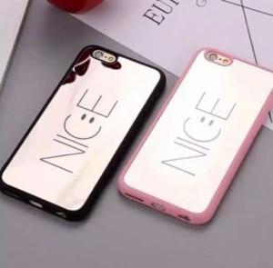3a586c14ff 送料無料☆iPhone 8Plus/ 7Plus ミラー スマイルケース ピンク ニコちゃん