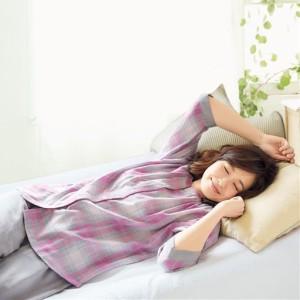 女性下着 レディース パジャマ ルームウェア ダブルガーゼの巣ごもりゆったりパジャマ(綿100%) M L LL|2655-415071