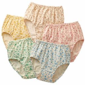 女性下着 レディース ショーツ スタンダードショーツ 綿100%ショーツ・色違い5枚組(はきこみ丈深め) 3L 5L|2144-325063