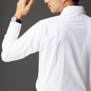 形態安定メンズビジネス白Yシャツ(長袖)/抗菌防臭・防汚加工 37(裄丈76) 37(裄丈78) 39(裄丈76) 39(裄丈78) 39(裄丈80) … 2207-398101