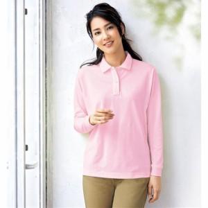 レディースファッション レディース トップス ポロシャツ UVカットポロシャツ(長袖)(S〜5L・洗濯機OK) S M L LL 2211-405435