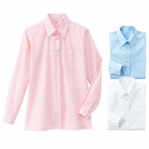 制服 学生服 女子制服 スクールシャツ ブラウス 女子  形態安定 長袖シャツ(スクール・制服)(ガールズ) S M L LL|2671-343884