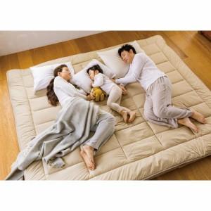 ベッド 寝具 布団 毛布 敷布団 抗菌コンパクト&ワイド ファミリー敷布団 幅160cm、厚さ9cm(レギュラー) 566157