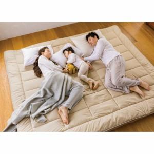ベッド 寝具 布団 毛布 敷布団 抗菌コンパクト&ワイド ファミリー敷布団 幅160cm、厚さ11cm(ボリューム) 566160