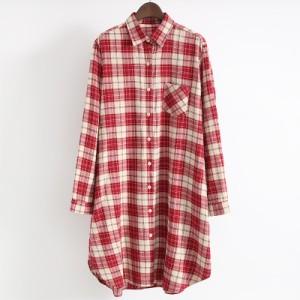 チェックシャツ タータンチェック レディース 女性用 トップス ブラウス シャツ カジュアル シック 上品 大人