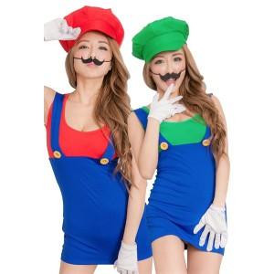 コスプレ 衣装 マリオ  ルイージ 風 スーパーマリオ コスチューム セクシー タイト スカート Mサイズ