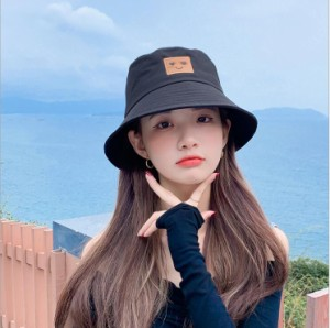 帽子 レディース 漁師帽   55-59cm 【イエロー、ブラック、ホワイト、ピンク、グレー、オレンジ】ht42hd
