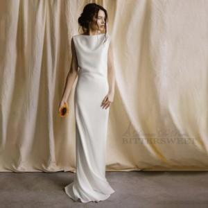 ウェディングドレス オーダーメイドも可能 ウエディングドレス スレンダー トレーン ファスナー 【XS〜XXL】【wd271jx】