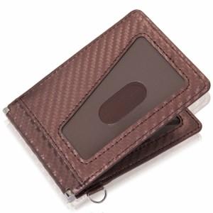 eb7f159e293c 【 大感謝SALE中 】定期入れ 二つ折り パスケース メンズ カーボンレザー セキュリティ バタフライ スリム 薄型 革 ICカード 薄い PC2