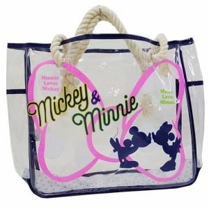 ミッキー&ミニー プールバッグ 巾着付きクリアロープバッグ 2017SS ディズニー キャラクター グッズ