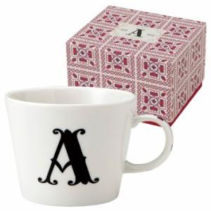 取寄品 イニシャル ギフトパッケージ マグカップ アルファベット マグカップ A 東欧風日本製 誕生日ギフト雑貨通販