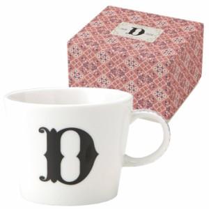 取寄品 イニシャル ギフトパッケージ マグカップ アルファベット マグカップ D 東欧風日本製 誕生日ギフト雑貨通販