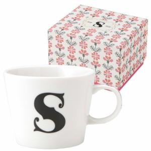 取寄品 イニシャル ギフトパッケージ マグカップ アルファベット マグカップ S 東欧風日本製 誕生日ギフト雑貨通販