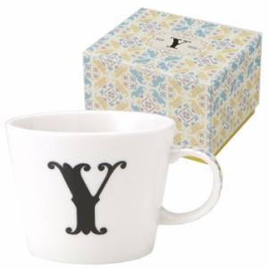 取寄品 イニシャル ギフトパッケージ マグカップ アルファベット マグカップ Y 東欧風日本製 誕生日ギフト雑貨通販