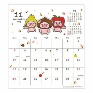 ぶたた decosmith カレンダー 2019年 ハンドメイド 卓上 スケジュール LINEクリエイターズ インテリア メール便可