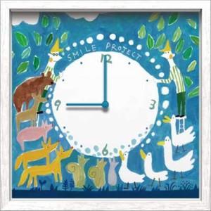 取寄品 送料無料 二木ちかこ 壁掛け時計 アーティストウォールクロック Animal 可愛いインテリア