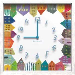 取寄品 送料無料 二木ちかこ 壁掛け時計 アーティストウォールクロック House 可愛いインテリア
