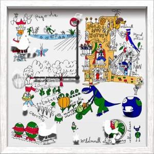 取寄品 送料無料 David Severn 壁掛け時計 アーティストウォールクロック Hotel 可愛いインテリア
